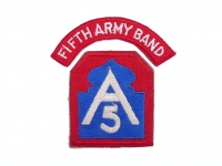 US army shop - Nášivka stará - 5.armáda • Fifth Army Band