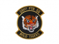 US army shop - Nášivka US Air Force - 391st Fighter Squadron • Bold Tigers